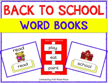 Back to School Leveled Word Books (Adapted Books)