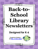Back to School Library Newsletters & Communication
