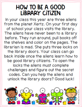 Back to School Library Orientation - PRINT Breakout Gr. 2/3