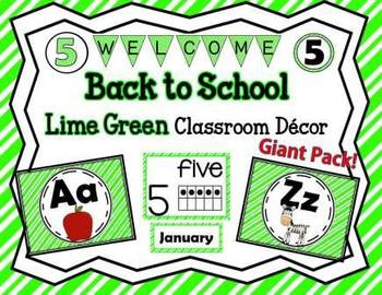 Classroom Lime Green Décor