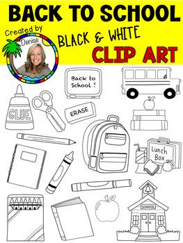 Back to School Line Art