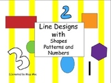 Line Designs with Shapes Patterns and Numbers