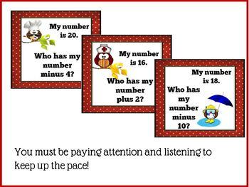 Back-to-School Listening Activity:  I have... Who has?
