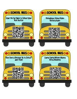 Back to School Listening Center QR Codes
