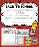 Back to School Listening Center Response Pages QR codes to