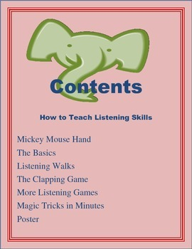 Back to School Listening Skills Activities and Games K, 1, 2