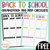 Back to School Lists Freebie!