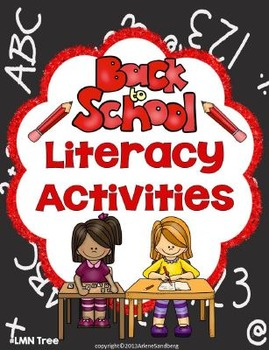 Back to School Literacy Activities