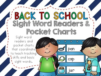 Back to School Literacy Activities - Pocket Charts and Sight Word Readers