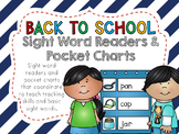 Back to School Literacy Activities - Pocket Charts and Sig