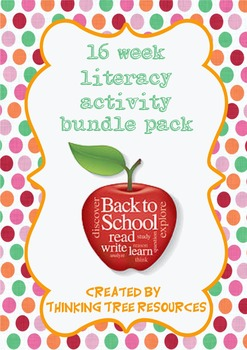 Back to School Literacy Activity Bundle Pack