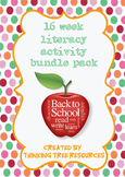 Literacy Activity Worksheet Bundle Pack