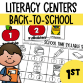 Back to School-Literacy Center Fun