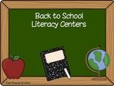 """Back to School"" Literacy Center Fun"