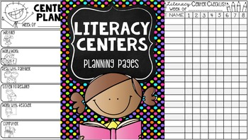 Back to School Literacy Center Labels {Editable}