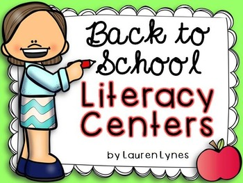 Back to School Literacy Centers!