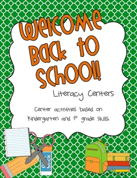 Back to School Literacy Centers