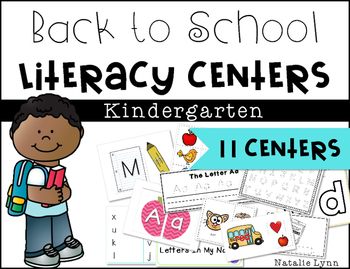 Back to School Literacy Centers - 11 Centers