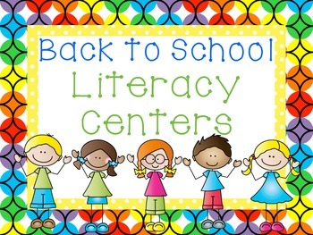 Back to School Literacy Centers: Common Core