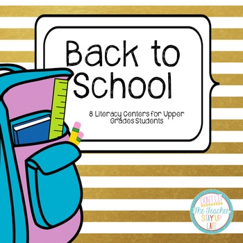 """Back to School Literacy Centers for """"Big Kids"""""""