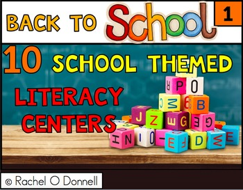 Back to School Literacy ELA Centers First Grade