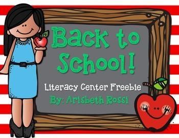 Back to School Literacy {Freebie}