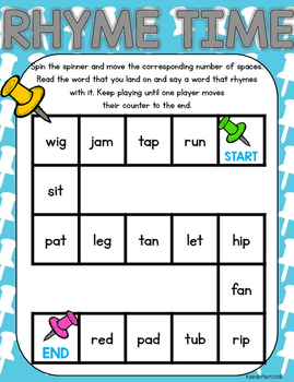Back to School Literacy Games for Partners