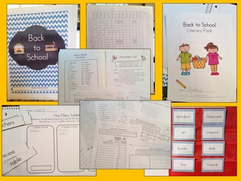 Back to School Literacy Learning Centers Pack