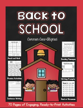 Back to School Literacy Printable Pack
