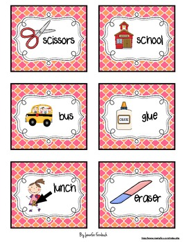 Back to School Literacy Stations/Centers