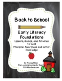 Back to School Literacy and Letter Knowledge
