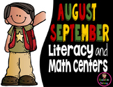 September Literacy and Math Centers First Grade