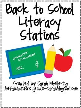 Back to School Literacy and Math Stations!