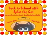 Back to School Literacy and Math with the Cat