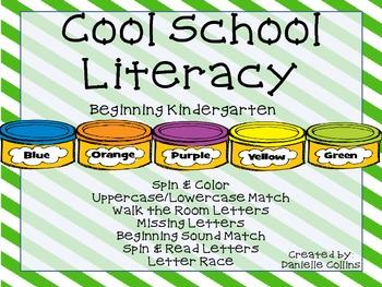 Back to School Literacy for Kindergarten (CCSS)