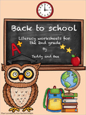 Back to School - Literacy worksheets & activities 2nd grade