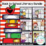 Back to School Literature Bundle...Word Work, Writing, Com