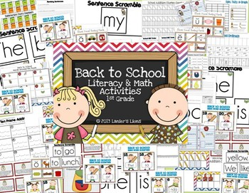 Back to School: Literacy & Math Activities