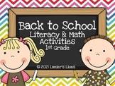 Back to School: Literacy & Math Activities