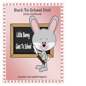 Back to School - Little Bunny Goes To School (194 pages-color/b&w)