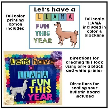 Back to School Llama Bulletin Board