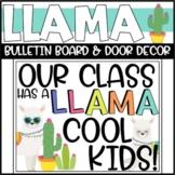 Llama Bulletin Board or Door Decoration