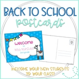Llama Editable Back to School Postcards to Students