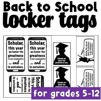 Back to School Locker Tags