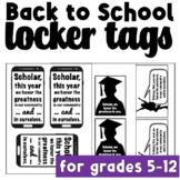 Back to School Locker Tags