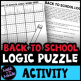 Back to School Logic Puzzle for Middle School - Beginning of the Year Activity