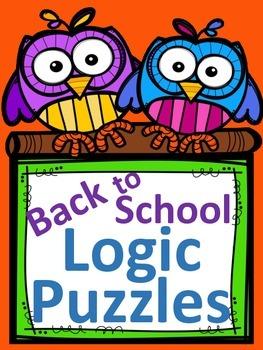 Back to School Logic Puzzles - 5 Puzzles ~ No Prep