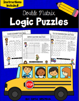 Back to School Logic Puzzles -  Double Matrix