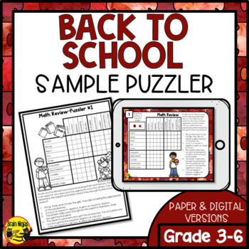 Back to School Logic Puzzles Freebie