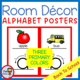 Lower Case Posters with free Coloring Pages - RED  (pdf and png)